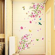 Cvjetnih Crtani film Zid Naljepnice Zidne naljepnice Dekorativne zidne naljepnice, PVC Početna Dekoracija Zid preslikača Zid