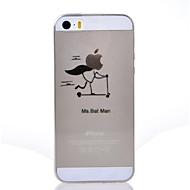billiga Mobil cases & Skärmskydd-fodral Till iPhone 7 Plus iPhone 7 iPhone 5 Apple iPhone 5-fodral Ultratunt Genomskinlig Mönster Skal Leka med Apple-loggan Mjukt TPU för