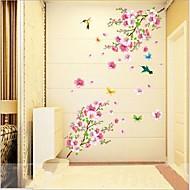 Dyr Botanisk Romantik Sille Liv Mode Vægklistermærker Fly vægklistermærker Dekorative Mur Klistermærker,Vinyl Materiale Kan fjernesHjem