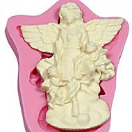 天使の花のシリコーン石鹸金型ケーキデコレーションツールフォンダンFIMOガムペースト&チョコレート