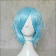 Γυναικείο Συνθετικές Περούκες Κοντό Ίσια Μπλε Απόκριες Περούκα Καρναβάλι περούκα φορεσιά περούκες
