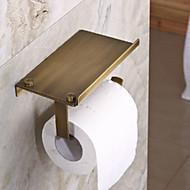 WC-Rollenhalter / Antikes Messing Antik