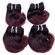 Ombre Düz Brezilya Saçı Dalgalı saç örgüleri
