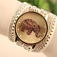 Kadın's Bilezik Saat Bilek Saati Quartz Deri Beyaz / Mavi / Kırmızı imitasyon Pırlanta Bayan Karikatür Moda - Beyaz Kırmzı Mavi