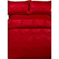List Poplun Cover Sets 4 komada Polyester Luksuzno Jacquard Polyester Bračni / Veliki bračni 4kom (1 duvet Cover, 1 Stan list, 2 Shams)