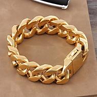 Erkek Kadın's Zincir & Halka Bileklikler Titanyum Çelik Altın Kaplama Lüks Klasik Bilezikler Mücevher Altın Uyumluluk Düğün Günlük