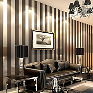 Contemporary Wallpaper Stripe Wall Covering Non-woven Paper Wall Art