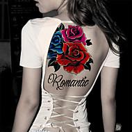 abordables -1 Tatouages Autocollants Séries de fleur Non Toxique Tribal Bas du Dos ImperméableHomme Femme Adulte Adolescent Tatouage Temporaire