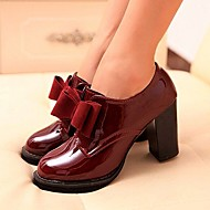cheap Women's Oxfords-Women's Shoes Chunky Heel Heels/Round Toe Pumps/Heels Casual Black/Burgundy