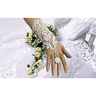 cheap Wedding Gloves-Elbow Length Glove Bridal Gloves Party/ Evening Gloves With Floral