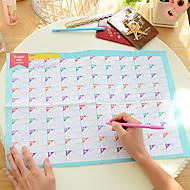 100 dias agenda calendário countdown adorável estudo e trabalho prático (cor aleatória)