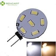 baratos Luzes LED de Dois Pinos-SENCART 270-300lm G4 Lâmpadas de Foco de LED MR11 6 Contas LED SMD 5730 Decorativa Branco Quente / Branco Frio 12V / 24V / 1 pç / RoHs