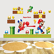 billige -wall stickers Vægoverføringsbilleder, style Super Mario pvc wall stickers
