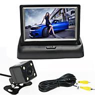 renepai® 4,3 palcový displej skládací monitoru + 170 ° HD auto zadní kamera + širokoúhlý vodotěsný fotoaparát