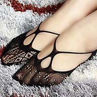 בגדי ריקוד נשים תחרה בינוני גרביים - אחיד
