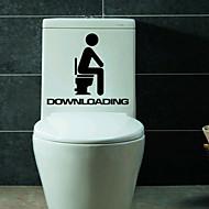 1ks tvůrčí osobnost bytový záchodových samolepky