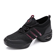 Women's Dance Shoes Dance Sneakers / Modern Leatherette Flat Heel Black / White
