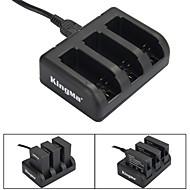 Kingma 3-slot batterijlader voor ahdbt-201 / ahdbt-301 / ahdbt-401 / GoPro hero 3/3 + / 4 - zwart