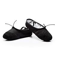 """billige Ballettsko-Dame Ballett Paljett Lerret Lær Flate Sandaler Innendørs Paljett Snøring Flat hæl Svart Hvit Rød Beige Under 1 """" Kan spesialtilpasses"""