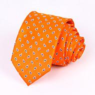pánské party / večerní svatební formální pomerančové kashew hedvábné kravaty