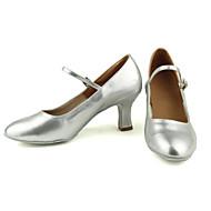 billige Moderne sko-Dame Moderne Kunstlær Høye hæler Trening Nybegynner Profesjonell Innendørs Utendørs Kustomisert hæl Svart Sølv Gull 3 cm Kan