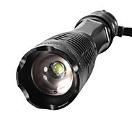 baratos -XML-T6 Lanternas LED LED 2000/1600/1800lm 5 Modo Iluminação Zoomable / Foco Ajustável / Resistente ao Impacto Campismo / Escursão /