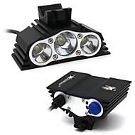 billige Sykkellykter og reflekser-Hodelykter Lommelyktsett LED Lyspærer LED LED 7500 lm 4.0 lys tilstand Vanntett Camping / Vandring / Grotte Udforskning, Dagligdags Brug, Sykling Svart