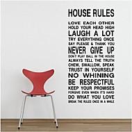 halpa -harmonia talon sääntöjä tässä talossa lainaus Seinätarrat zooyoo8010 koriste DIY Parede irrotettava vinyyli seinä tarra
