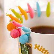 siliconen slak stijl string hanger clip voor theezakje (willekeurige kleur, 10-pack)