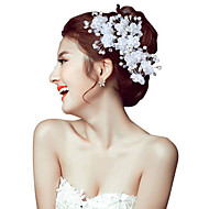 cheap Wedding Headpieces-2 pcs Women Pearl/Crystal/Alloy Headbands/Hairpins/Flowers With Crystal/Pearl Wedding/Party Headpiece