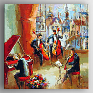 Oil Painting Abstract People  Music Party Painting Hand Painted Canvas with Stretched Framed