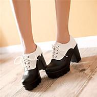 Women's Shoes Synthetic Chunky Heel Heels/Basic Pump Pumps/Heels Office & Career/Dress/Casual Blue/Pink/White/Beige