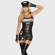 Policial Costumes carreira Fantasias de Cosplay Festa a Fantasia Feminino Dia Das Bruxas Carnaval Festival/Celebração Trajes da Noite das