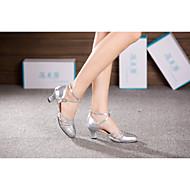 billige Moderne sko-Dame Moderne Ballett Paljett Lakklær Sateng Syntetisk Høye hæler Sandaler Joggesko Innendørs Profesjonell Nybegynner Trening Satengblomst