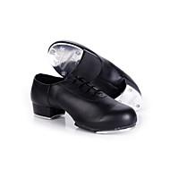 billige Steppdans-Dame Step Lakklær Høye hæler Trening Innendørs Snøring Tykk hæl Svart 4 cm Kan ikke spesialtilpasses