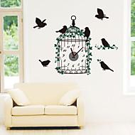 コンテンポラリー 動物 キャラクター 抽象風 結婚式 家族 友達 漫画 壁時計,円形 ノベルティ柄 プラスチック その他 屋内/屋外 クロック