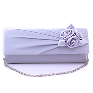 baratos Clutches & Bolsas de Noite-Mulheres Bolsas Seda Bolsa de Festa / Capa Prootetora para Casamento / Festa / Eventos / Formal Verde / Azul / Cinza Claro