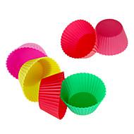 12pcs gjenbruk silikon kakeform bakervarer kopper (tilfeldig farge)