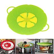 utensílios de cozinha flor silicone tampa vazamento rolha tampa de cobertura de silicone para pan (cor aleatória)