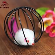 Игрушка для котов Игрушки для животных Интерактивный Дразнилки Шар-клетка Мышь Для домашних животных