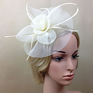 cheap Wedding Headpieces-Net Fascinators Flowers 1 Wedding Special Occasion Headpiece