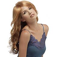 halpa -laadukas capless pitkä aaltoileva mono top neitsyt Remy peruukit 7 värivaihtoehtoa