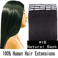 5 set 16 inch 30g / set huid tape haar Maleisische human hair extensions 19 kleuren voor vrouwen schoonheid