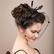 billiga Brudhuvudbonader-Fjäder / Nät fascinators / Blommor / Birdcage slöjor med 1 Bröllop / Speciellt Tillfälle Hårbonad