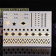 Tatuointitarrat Korusarjat - Paperi - Kuvio/Waterproof - Jewelry - 23*15*0.2cm - Kulta/Monivärinen/Hopea - 4 -