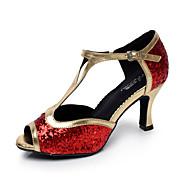 ieftine -70%-Latin/Salsa - Pantofi de dans (Negru/Roșu/Argintiu) - Non personalizabile - Pentru femei