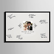 E-HOME® Personalized Signature Canvas Frame-A Kiss (Includes Frame)