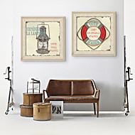 billige Innrammet kunst-Still Life Vintage fantasi Innrammet Lerret Innrammet Sett Veggkunst,PVC Materiale med ramme For Hjem Dekor Rammekunst Stue Kjøkken