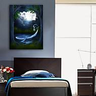 halpa Tulosteet-LED canvas-taide Maisema 1 paneeli Pysty Painettu Wall Decor Kodinsisustus
