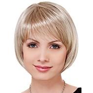 billige -Kvinder Syntetiske parykker Kort Rett Blond Bobfrisyre Naturlig parykk Kostymeparykk